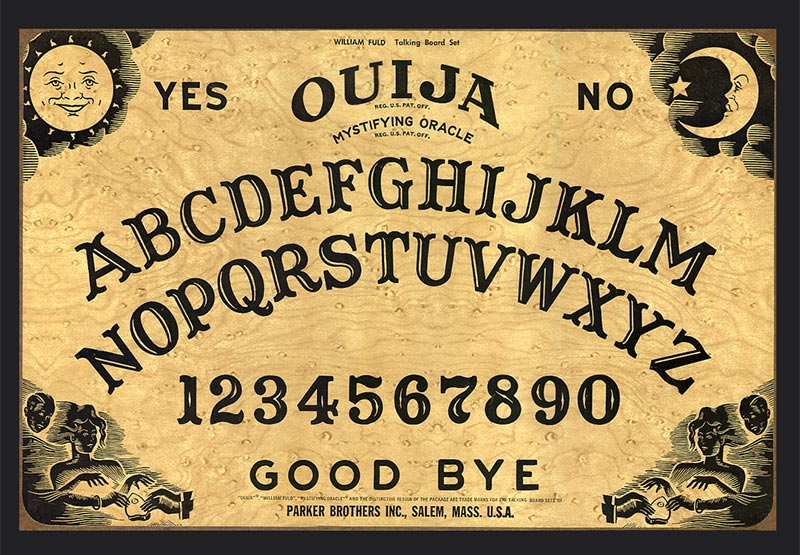 Betty Jane Ware - Image of a Ouija board.